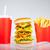 чизбургер · пить · Cola · картофель · фри · красный · Бар - Сток-фото © cookelma