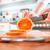 manos · naranja · frescos · cocina · frutas - foto stock © cookelma