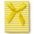 caixa · de · presente · topo · ver · amarelo · listrado · fundo - foto stock © coprid