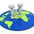 mapa · del · mundo · 3d · personas · hombres · persona · pie - foto stock © coramax