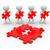 3D · oameni · albi · puzzle · legătură · roşu · bucata - imagine de stoc © coramax