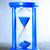 bleu · sablier · isolé · blanche · horloge · sable - photo stock © cosma