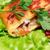 szendvics · zöldségek · spanyol · chorizo · háttér · kenyér - stock fotó © cosma