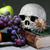 人間 · 頭蓋骨 · 古代 · 図書 · 静物 · キャンドル - ストックフォト © cosma