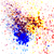Colorful acrylic paint splatter shiny, blob on white background. stock photo © cosveta