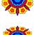 fronteira · flores · silhueta · padrão · colorido - foto stock © cosveta