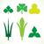 decorativo · folhas · verdes · padrão · conjunto · isolado · branco - foto stock © cosveta