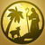 pastor · ovejas · silueta · icono · oro · atrás - foto stock © cosveta