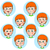 child face emotion gestures vector illustration set collection stock photo © cosveta