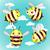 establecer · Cartoon · cute · abejas · cielo · nubes - foto stock © cosveta