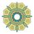 ornamental round flower vintage pattern circle flower isolated stock photo © cosveta
