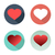 flat set hearts icons with shadow vector colorful stock photo © cosveta