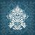 witte · steeg · blauwe · bloem · patroon · vector - stockfoto © cosveta