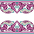 vector · sin · costura · frontera · oriental · estilo - foto stock © cosveta