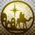 силуэта · икона · золото · сцена · святой - Сток-фото © cosveta