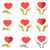 Stylized red heart on hands man and woman, vector icons stock photo © cosveta