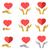 estilizado · vermelho · coração · mãos · homem · mulher - foto stock © cosveta