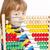 nino · mirando · colorido · ábaco · pensando - foto stock © courtyardpix