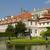 Prag · bahçe · Çek · Cumhuriyeti · barok · çiçekler · bahar - stok fotoğraf © courtyardpix