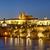 nehir · Prag · köprü · akşam · karanlığı · Çek · Cumhuriyeti · su - stok fotoğraf © courtyardpix
