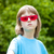 fiú · arc · közelkép · portré · szkeptikus · szemüveg - stock fotó © courtyardpix