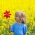 menino · longo · loiro · cabelo · flor - foto stock © courtyardpix