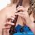 meisje · spelen · fluit · hand · student · kunst - stockfoto © courtyardpix