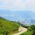 アスファルト · 道路 · 自動 · 自転車 · 森林 · 砂 - ストックフォト © cozyta