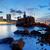 puesta · de · sol · costa · Hong · Kong · rocas · agua · resumen - foto stock © cozyta