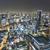 légi · halszem · kilátás · Oszaka · Japán · éjszaka - stock fotó © cozyta