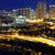 ikonikus · Hongkong · kikötő · kilátás · naplemente · szigetek - stock fotó © cozyta