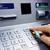 ATM · nakit · makine · pin · kod · insan · eli - stok fotoğraf © cozyta