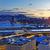 gece · şehir · merkezinde · şehir · ışık · deniz · ufuk · çizgisi - stok fotoğraf © cozyta