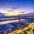 Hong-Kong · Skyline · port · coloré · lumières · de · la · ville · nuit - photo stock © cozyta
