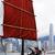 velero · vela · Hong · Kong · puerto · cielo · agua - foto stock © cozyta