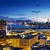 linha · do · horizonte · Hong · Kong · noite · negócio · escritório · edifício - foto stock © cozyta