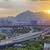 acelerar · ônibus · pôr · do · sol · estrada · negócio · céu - foto stock © cozyta