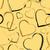 golden seamless pattern with hearts stock photo © creativika