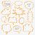 konuşma · düşünce · kabarcıklar · vektör · doku - stok fotoğraf © creativika