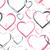 corações · diferente · rosa · cinza · contorno - foto stock © creativika