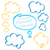 highlighter thought clouds bubbles design elements stock photo © creativika