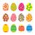 paskalya · yumurtası · vektör · ayarlamak · simgeler · stil - stok fotoğraf © creativika