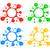 vektor · stilizált · űr · szimbólumok · terv · szett - stock fotó © creativika