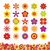 húsvét · stilizált · ikon · gyűjtemény · színes · ikon · szett · virág - stock fotó © creativika