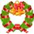 вектора · Рождества · соснового · венок · красный · лук - Сток-фото © creator76