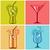 cocktails · frutas · exótico · bebidas · isolado · branco - foto stock © creator76