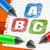 color · cartas · bloc · de · notas · marcador · símbolo · oficina - foto stock © creator76