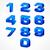 alphabet isometric numbers in blue stock photo © creator76
