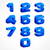 alphabet isometric numbers in blue stock photo © creator76