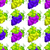 cluster grapes seamless pattern stock photo © creator76